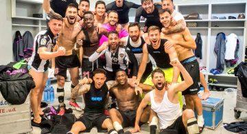 El equipo celebra la victoria en las redes sociales