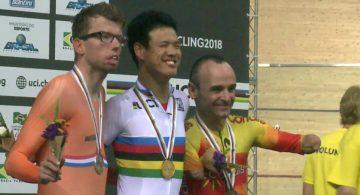 Ricardo Ten conquista su segunda medalla: bronce en MC1 1 km
